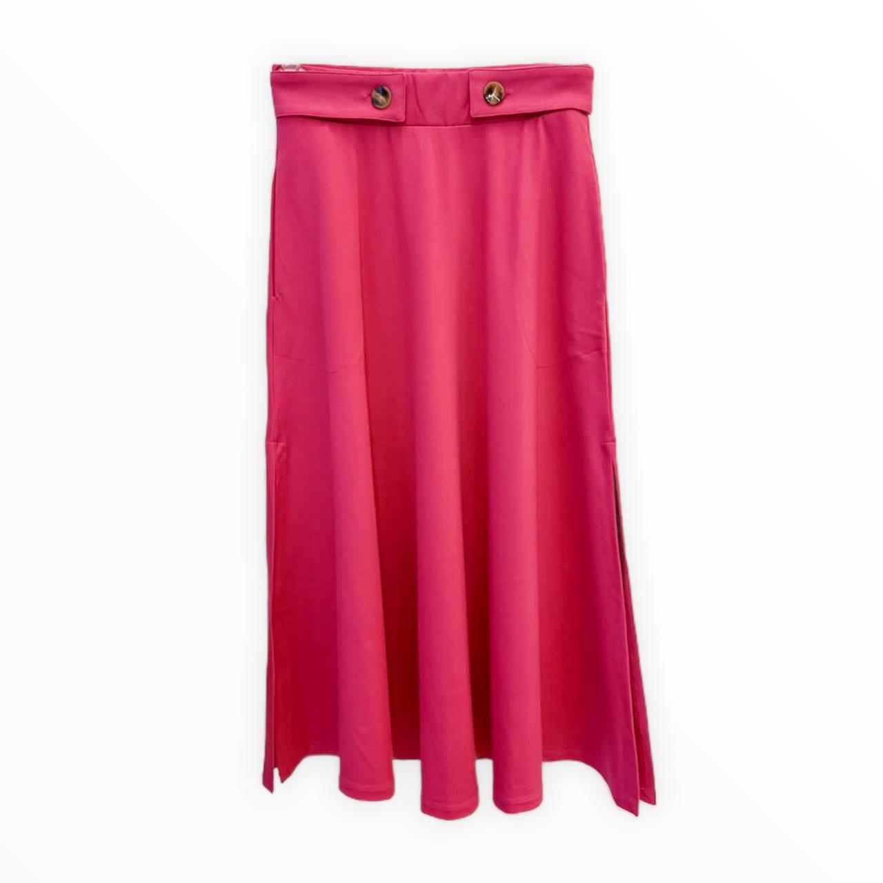 Saia Midi Tereza pink
