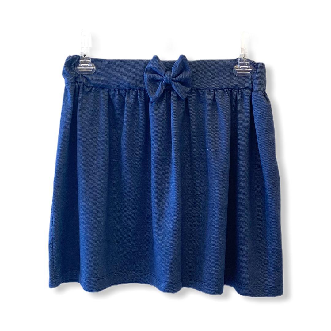 Saia moletom blue jeans com lacinho  - Vivian Bógus