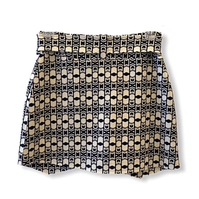 Saia shorts abotoamento duplo estampada  - Vivian Bógus