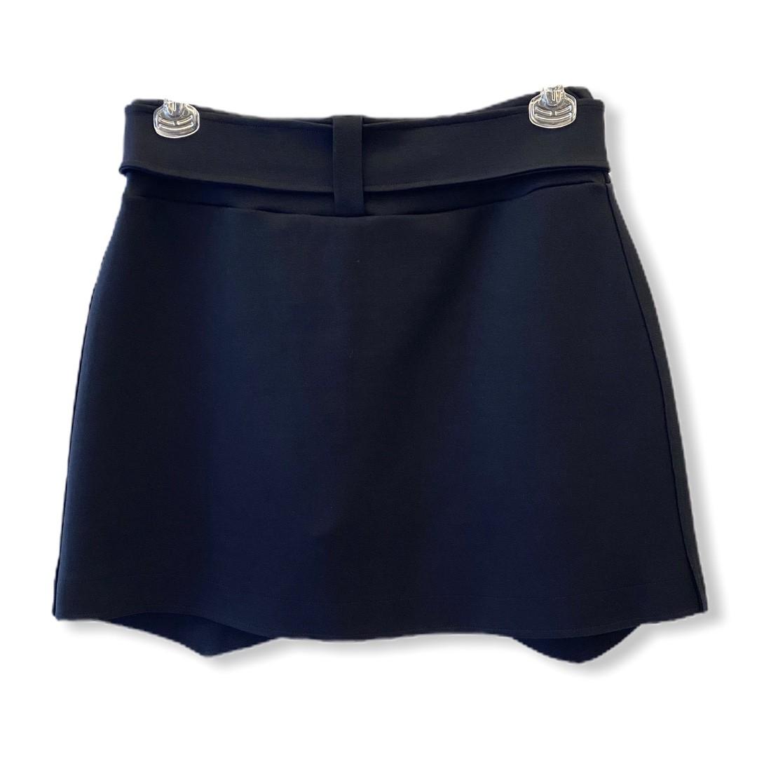 Saia shorts abotoamento duplo preta  - Vivian Bógus