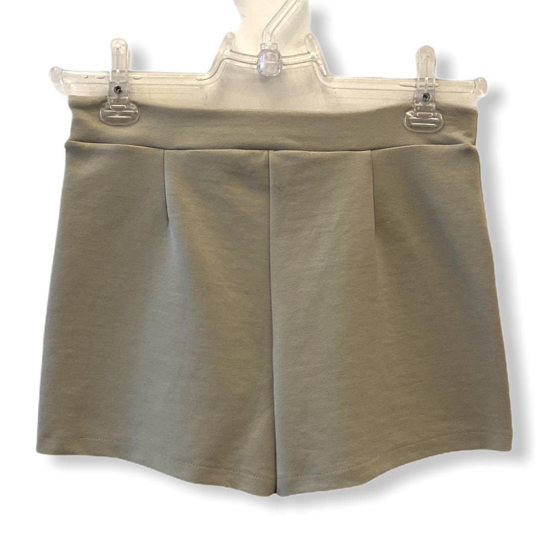 Saia-shorts em neoprene areia  - Vivian Bógus