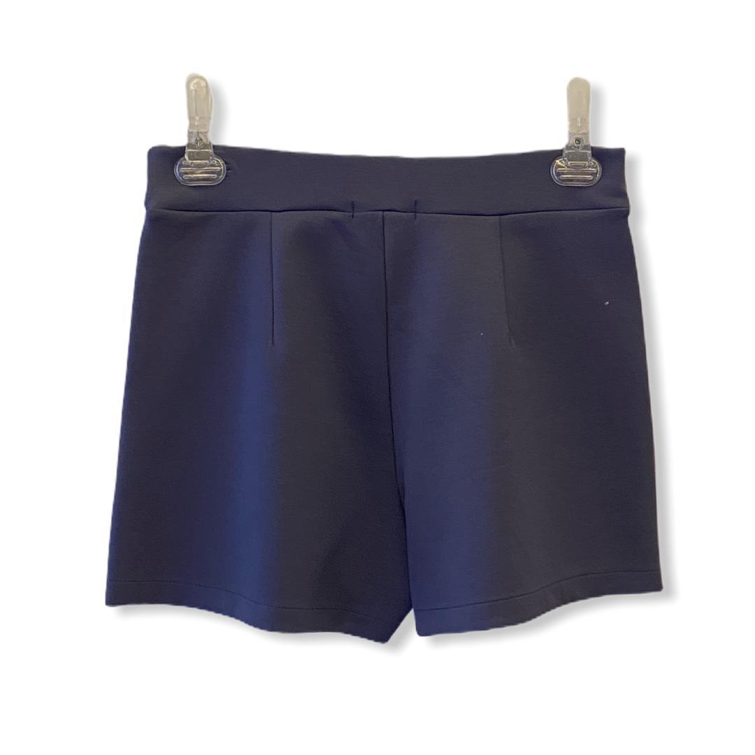 Saia-shorts em neoprene marinho  - Vivian Bógus