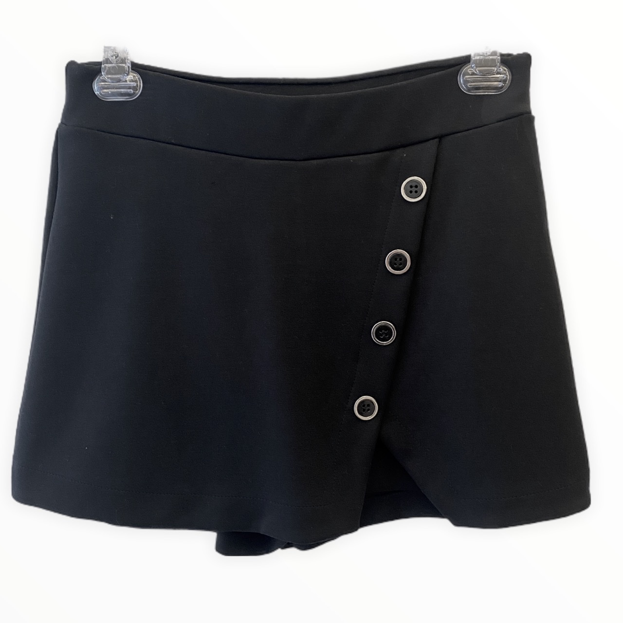 Saia-shorts em neoprene preto