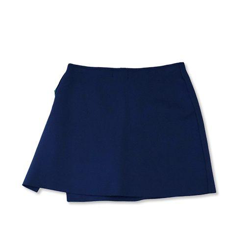 Saia-shorts evasê  neoprene azul marinho   - Vivian Bógus