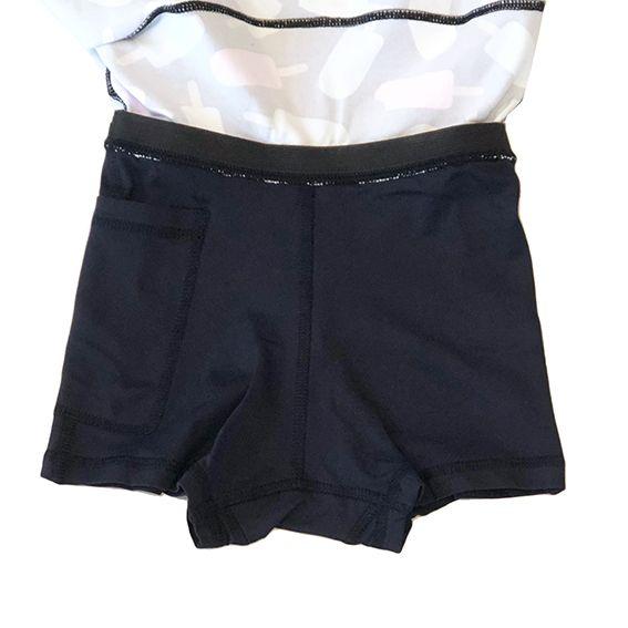 Saia shorts infantil estampa Picolé
