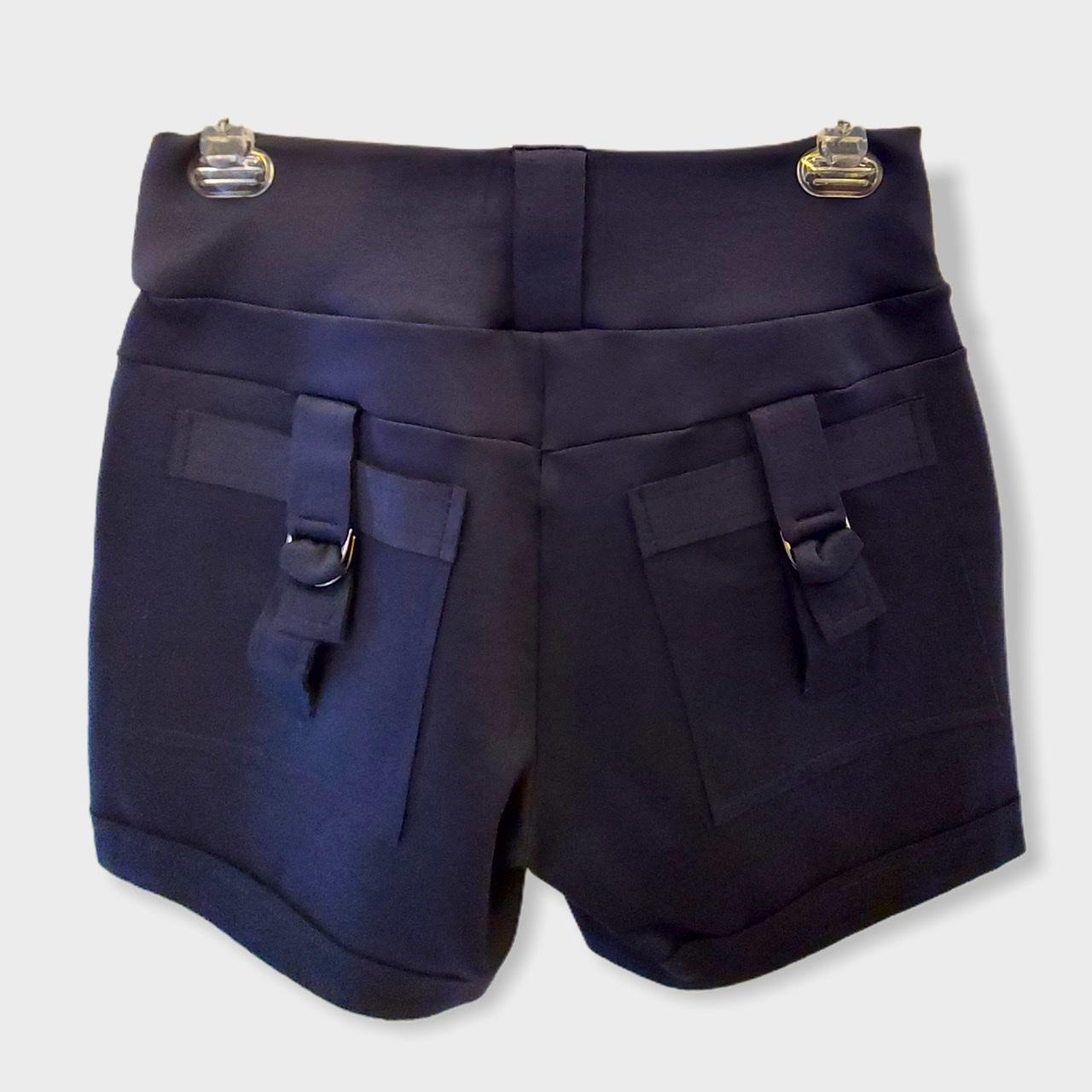 Short marinho com detalhe bolso   - Vivian Bógus