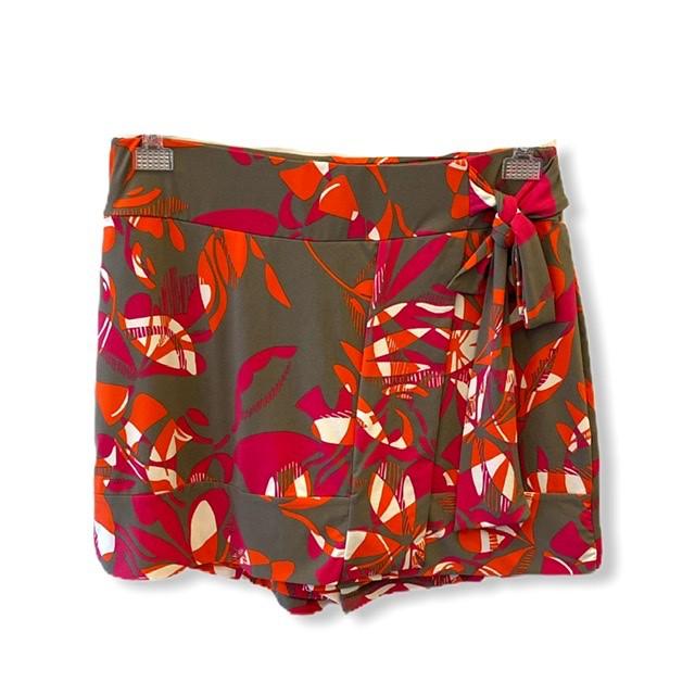 Short saia estampa floral  - Vivian Bógus