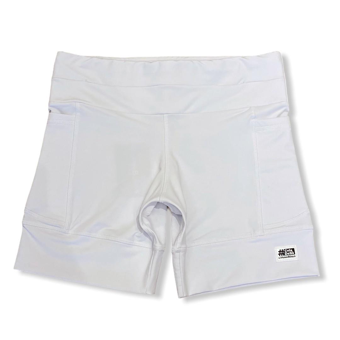 Shorts de compressão 1500 bolsos em compress branco   - Vivian Bógus