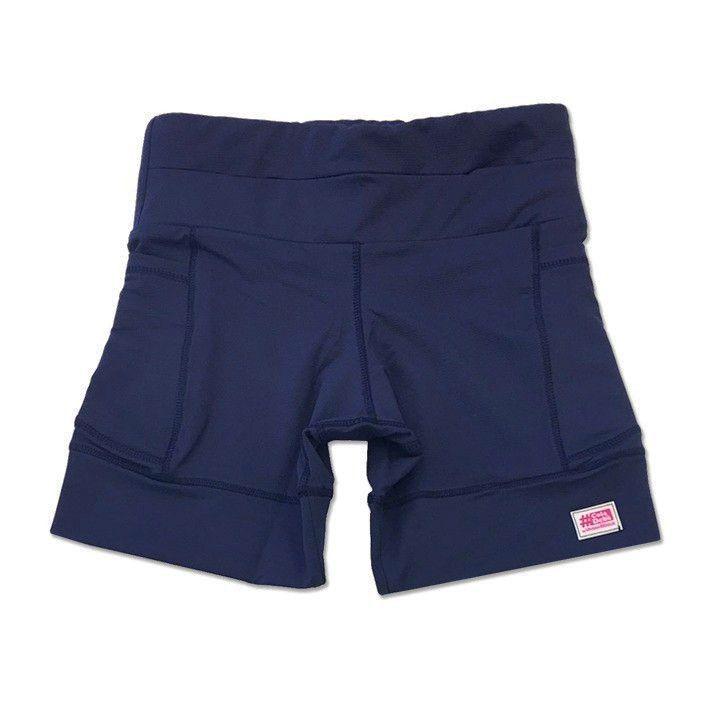 Shorts de compressão 1500 bolsos em sportiva azul marinho  - Vivian Bógus
