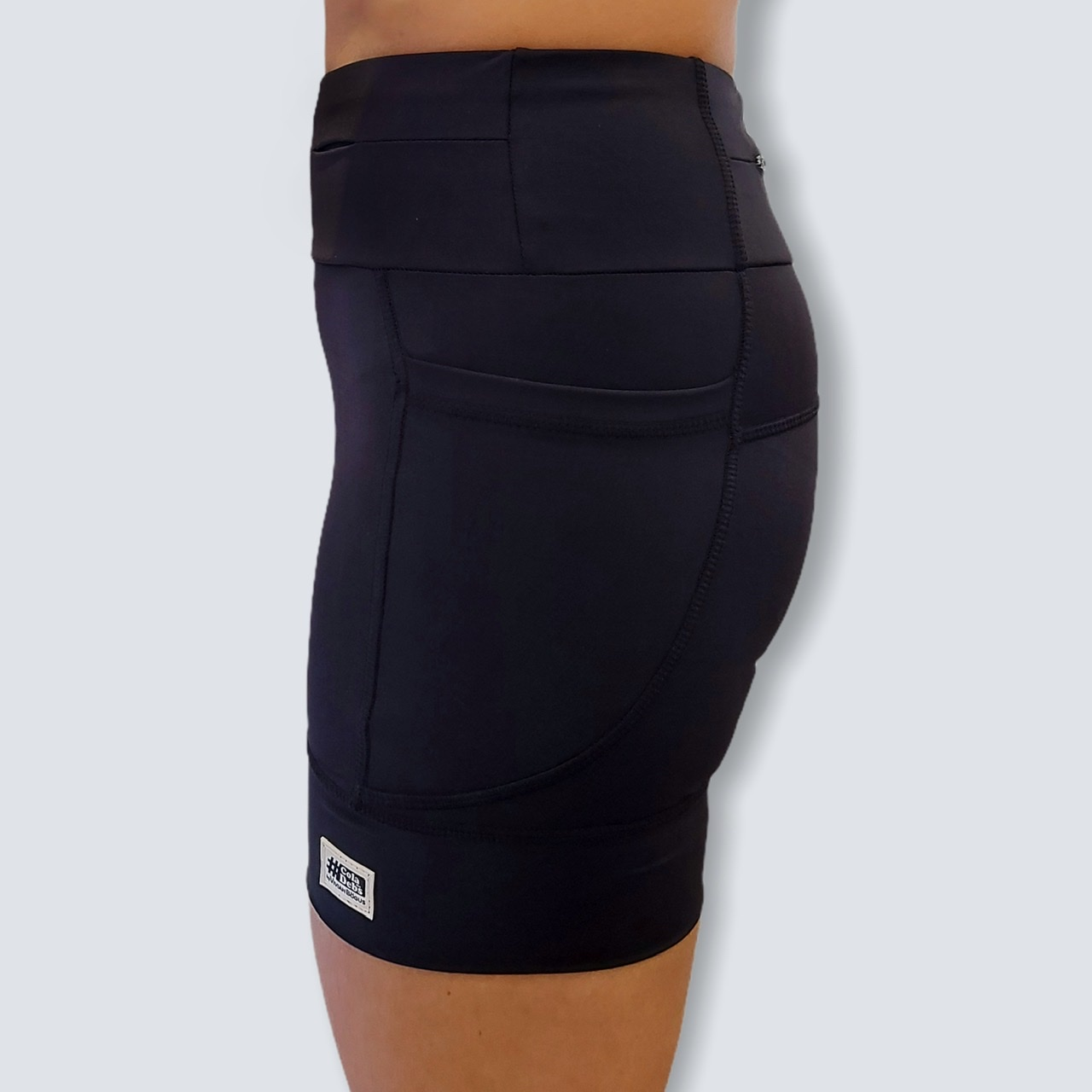 Shorts de compressão 1500 bolsos em sportiva preto   - Vivian Bógus