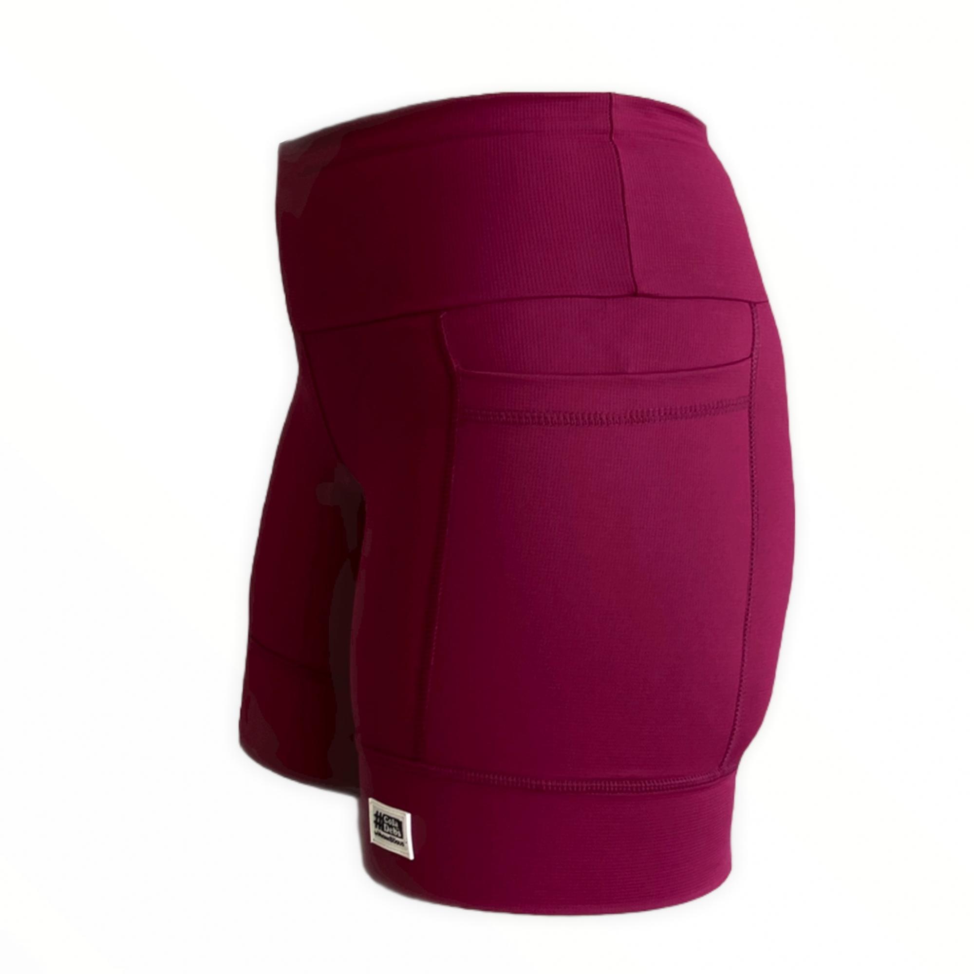 Shorts de compressão 2 bolsos laterais Square em compress vinho