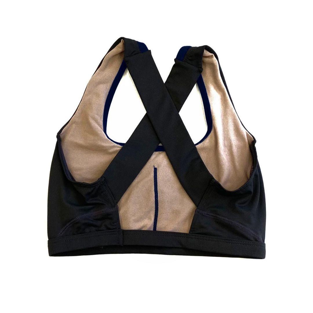 Top de compressão em X com bolso na frente preto   - Vivian Bógus