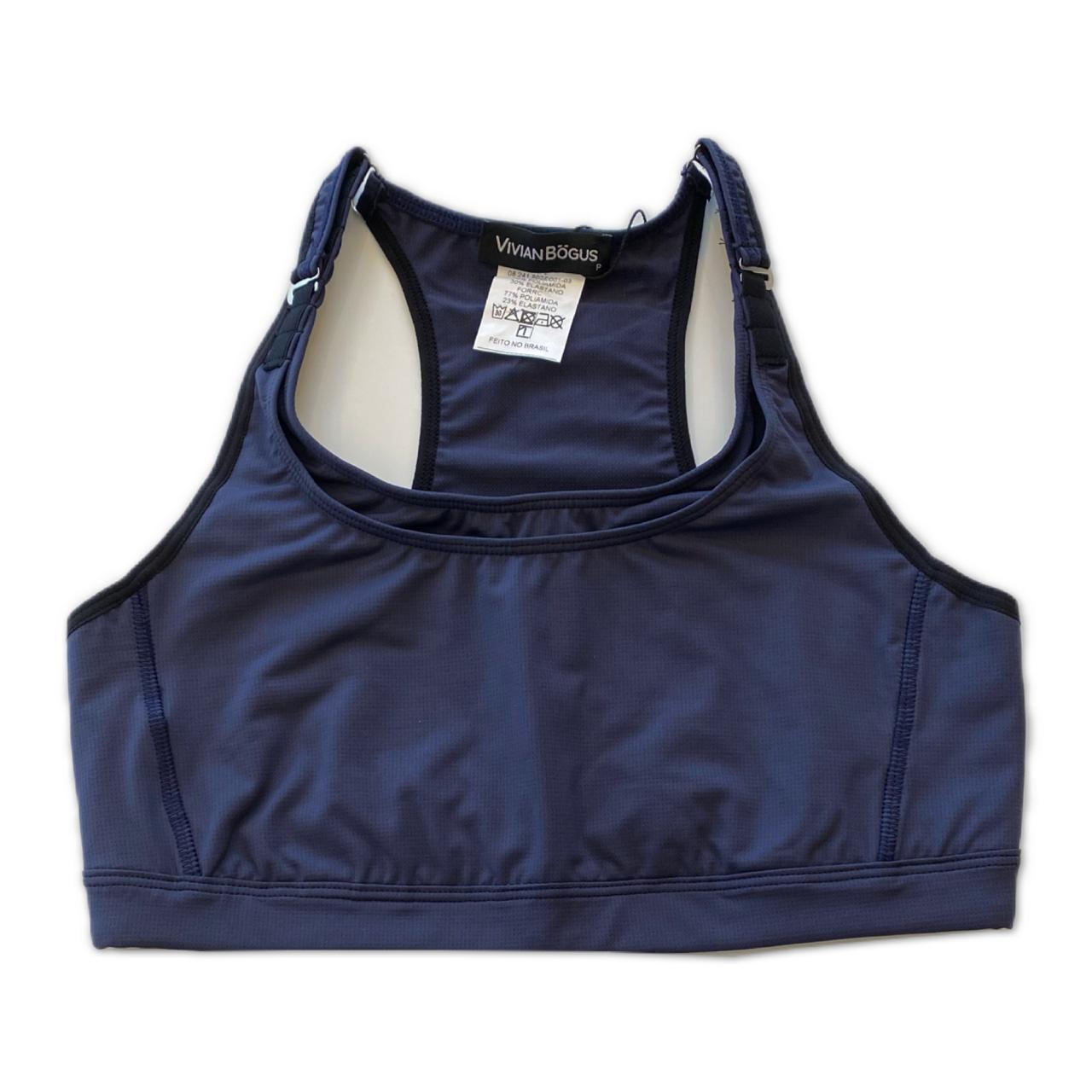 Top mil bolsos de compressão ajustável com bolsos frente e costas azul marinho  - Vivian Bógus
