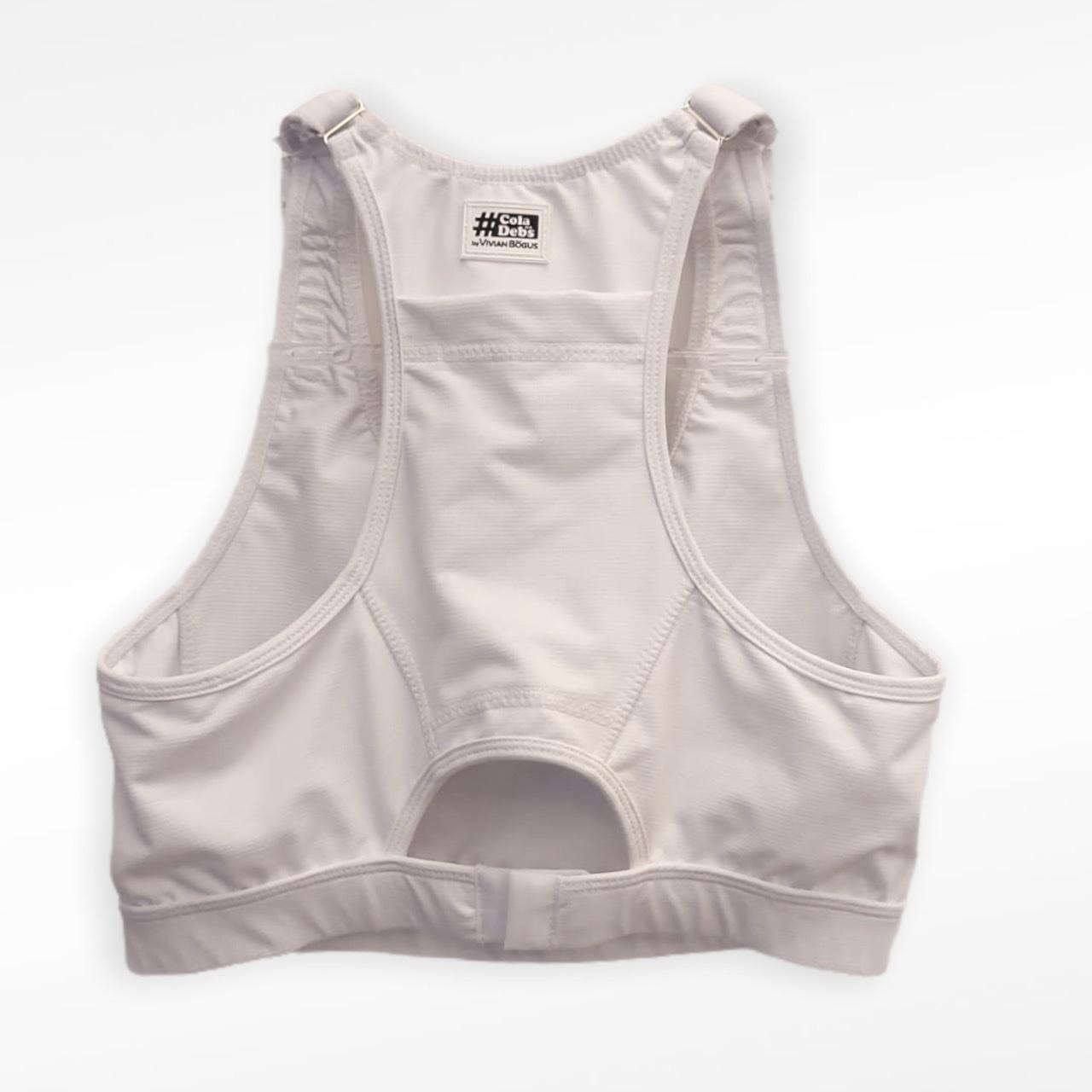 Top mil bolsos de compressão ajustável com bolsos frente e costas branco