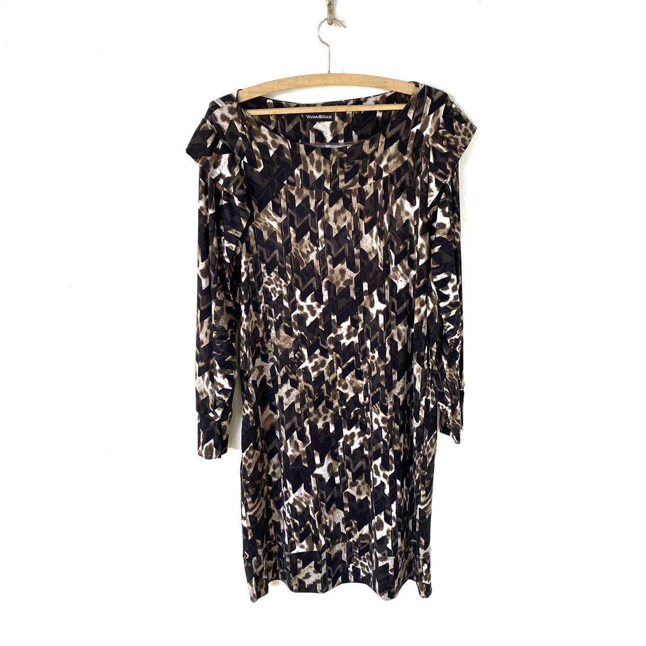 Vestido em malha fria estampado  - Vivian Bógus