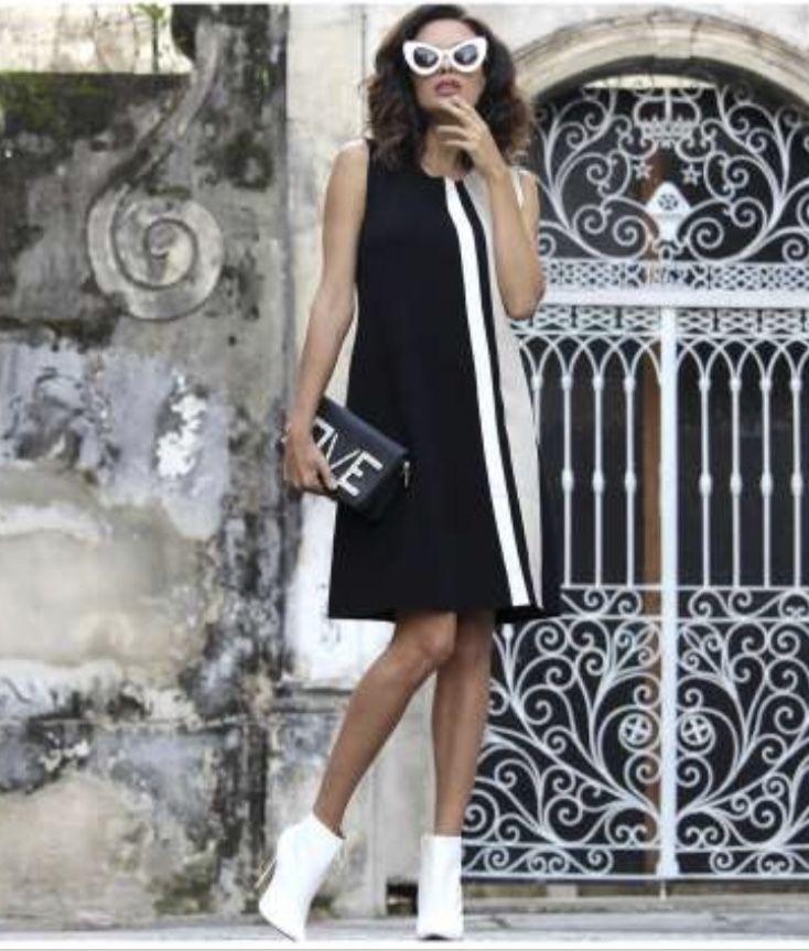 Vestido evasê  buclê (opções de cor)  - Vivian Bógus