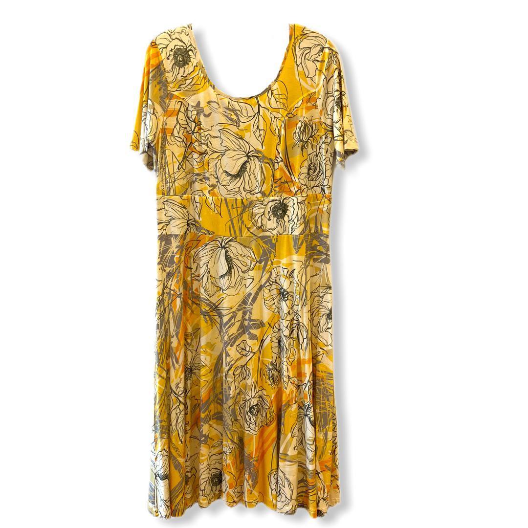Vestido floral amarelo  - Vivian Bógus