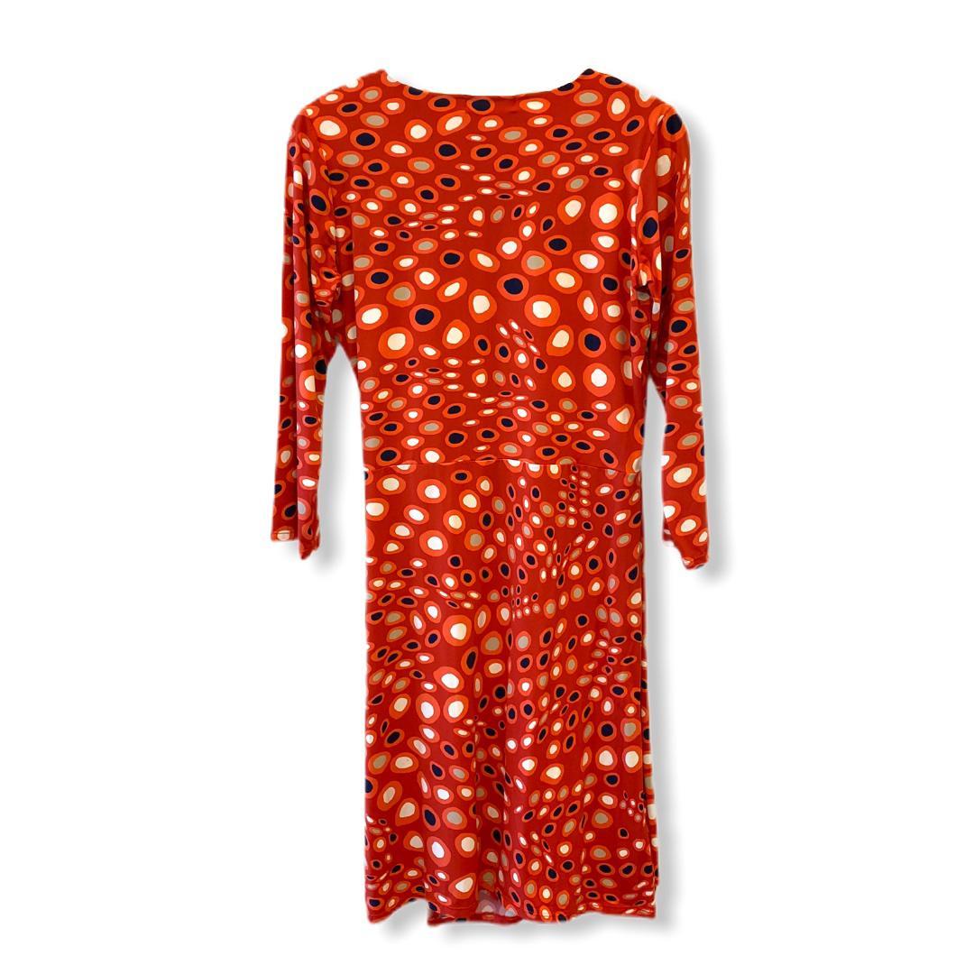 Vestido malha fria transpasse estampado (cores)  - Vivian Bógus