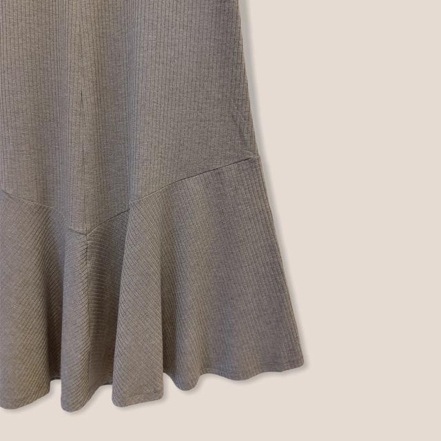Vestido Mariana canelado cinza