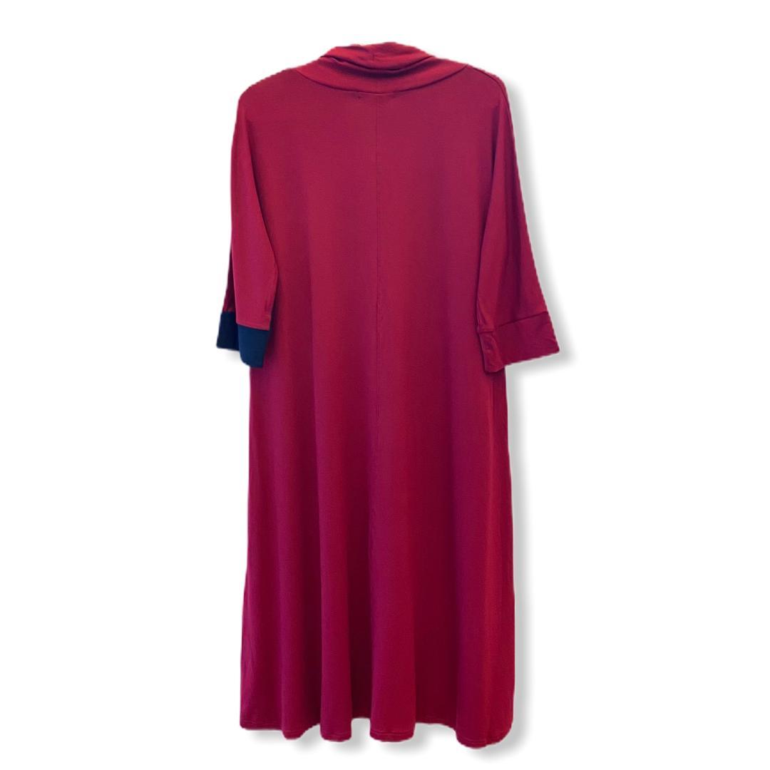 Vestido Recortes Colorido Magenta  - Vivian Bógus
