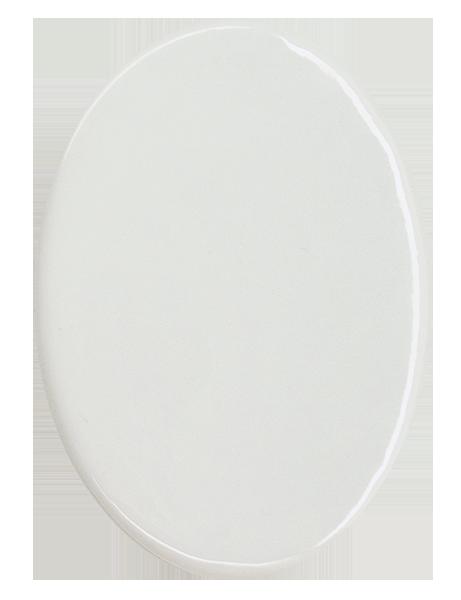 Azulejo Branco Oval 15cm