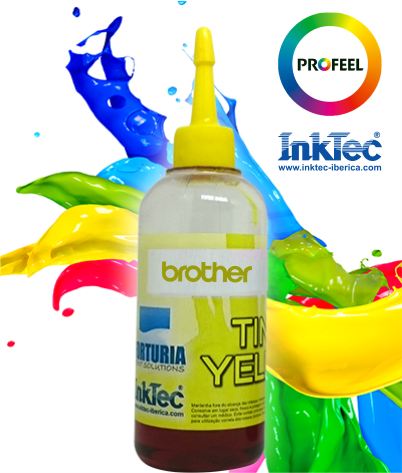 Tinta Corante - BROTHER - Yellow - INKTEC PROFEEL