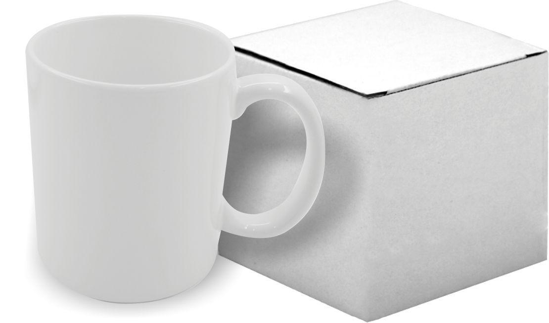 Caneca Branca  de porcelana 325ml - Com caixa Individual