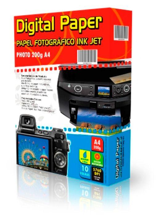 Papel Fotográfico A4 - 200g - 10 Folhas