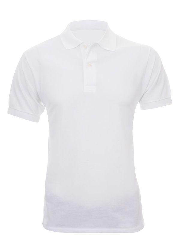 Camisa Polo Algodão - Masculina - Branca - M