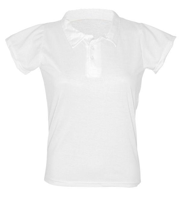 Camisa Polo Algodão - Feminina - Branca - GG