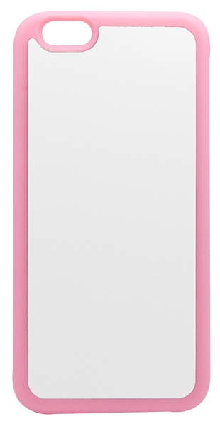 Capa Iphone 6 - Plana - Borracha Flexível - Rosa