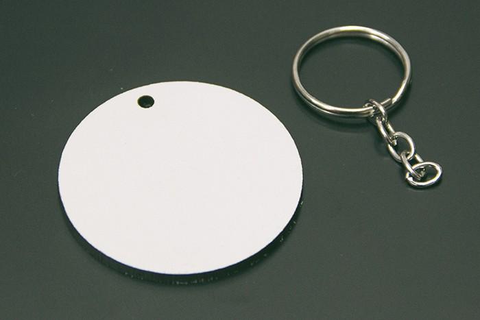 Chaveiro MDF p/ Sublimação 5cm X 3mm - REDONDO - 10 UND