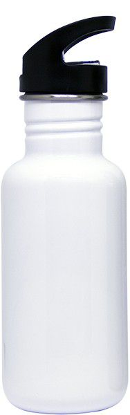 Garrafa Branca em Aluminio com Bico