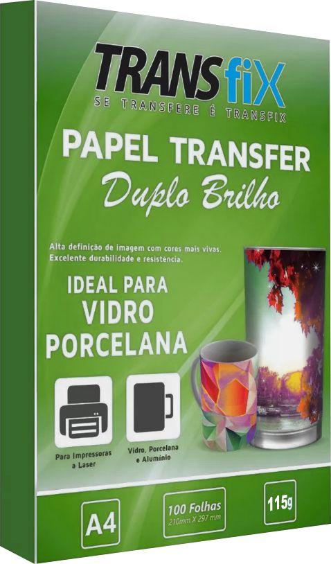 PAPEL TRANSFER DUPLO BRILHO 115g - 100 folhas A4 - TRANSFIX