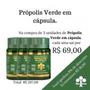 3 unidades de Própolis Verde em cápsula