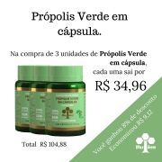 3 unidades de Própolis Verde em Cápsula COD 51