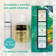 Kit Cosméticos Masculino, 1 Apiven, 1 kit de sabonete Masculino, grátis 1 Bee Mask