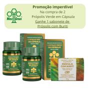Kit Promocional - Compre 2 Própolis Verde em Cápsula e ganhe 1 Sabonete de Própolis com Buriti
