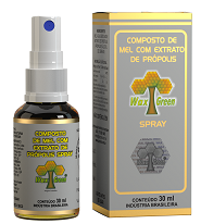 Spray Composto de Mel e Própolis 30ml (Brasil)  - WAXGREEN - GREENLIFE