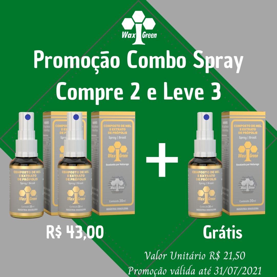 Combo de Spray de Própolis - Compre 2 e Leve 3  - WAXGREEN - GREENLIFE