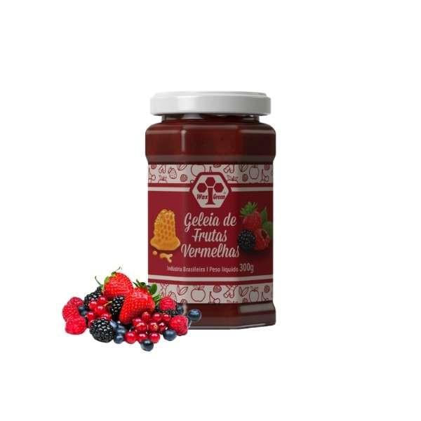 Geleia 100% Frutas Vermelhas Com Mel 300G  - WAXGREEN - GREENLIFE
