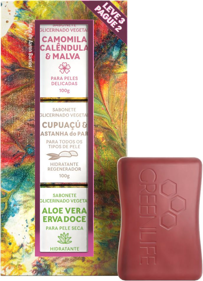 Kit de Sabonetes - Presente Feminino - Leve 3 Pague 2  - WAXGREEN - GREENLIFE