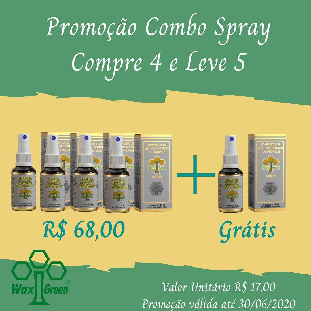 Kit Promocional Combo Spray Compre 4 e Leve 5  - WAXGREEN - GREENLIFE