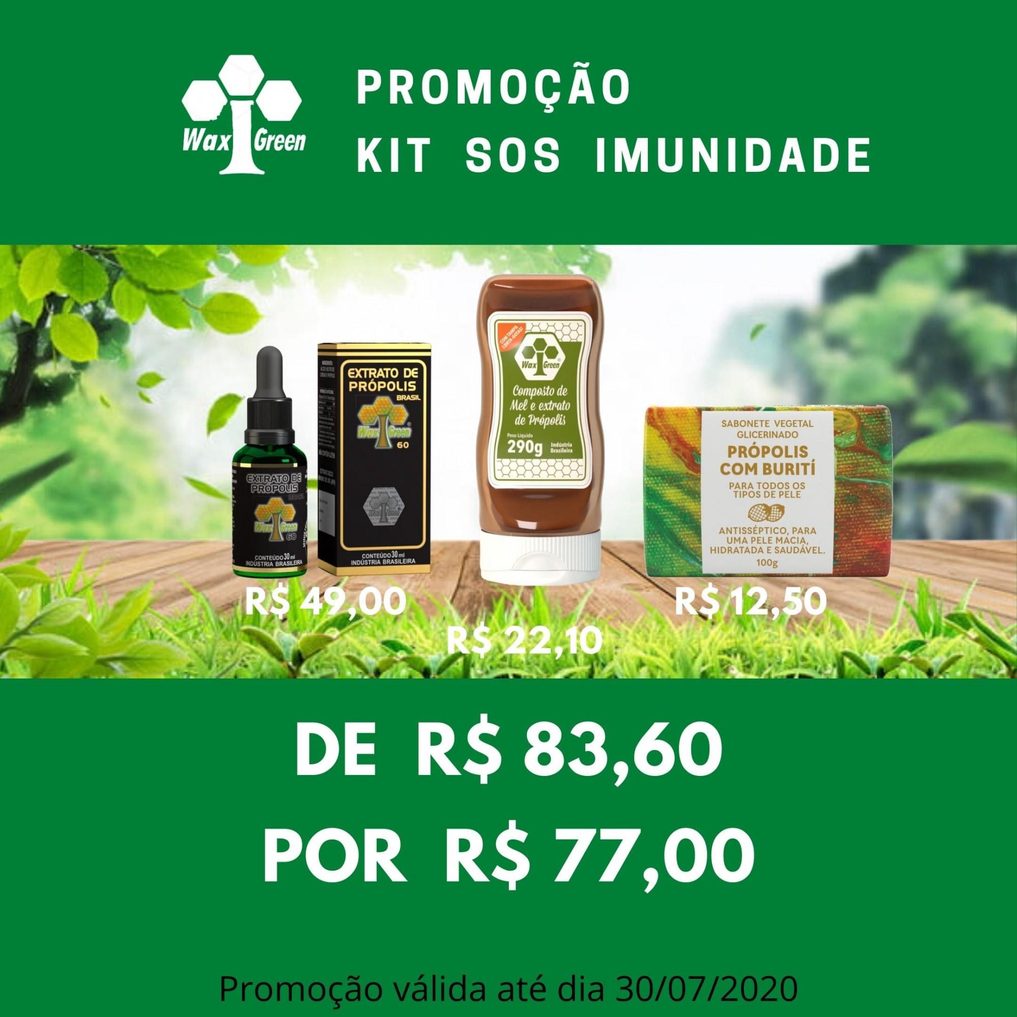 kit SOS Imunidade 2  - WAXGREEN - GREENLIFE
