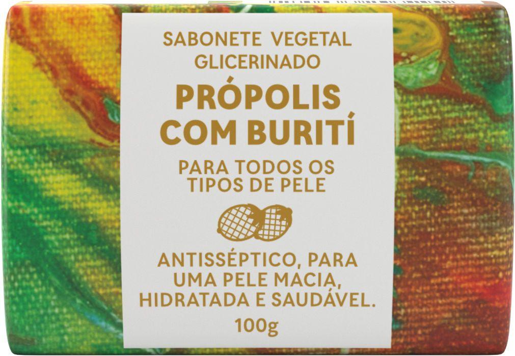 Sabonete Glicerinado Própolis com Buriti 100g - GREEN LIFE  - WAXGREE - GREENLIFE