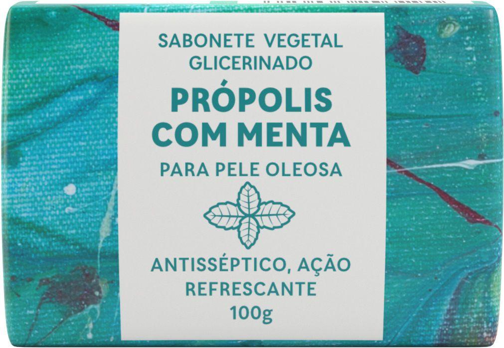 Sabonete Vegetal Glicerinado - Própolis com Mentha para pele Oleosa - 100g Green Life  - WAXGREE - GREENLIFE