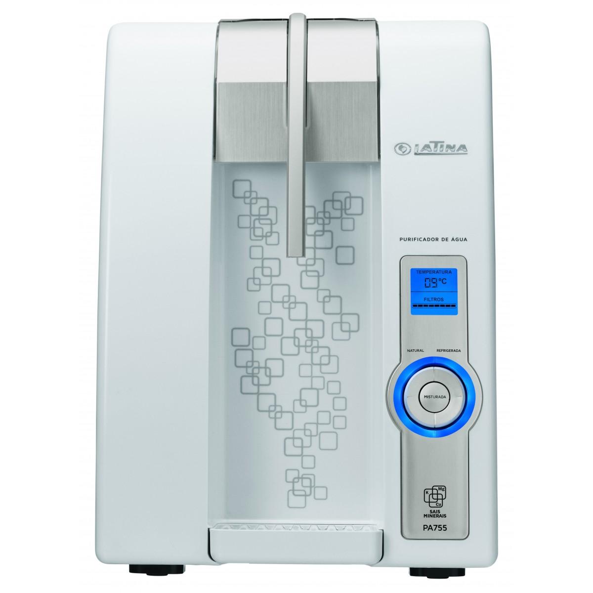 Purificador de Água Eletrônico Refrigerado Latina XPA775 com Visor LED Branco  - ShopNoroeste.com.br