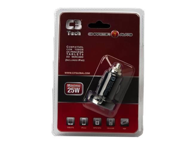 Carregador Veicular USB C3Tech 5V/10W UC-20  - ShopNoroeste.com.br