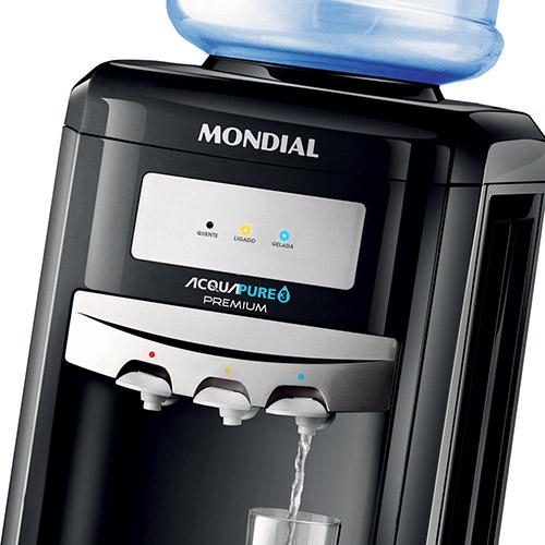 Bebedouro Acqua Pure 3 Premium Mondial BB-03 Com 3 Temperaturas 127V - Natural, Gelada e Quente  - ShopNoroeste.com.br