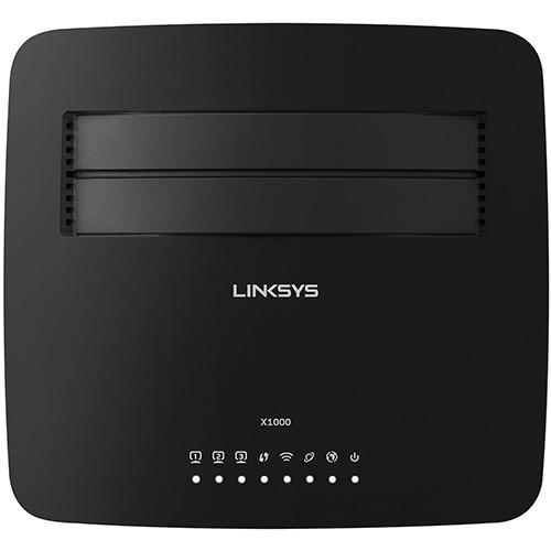 Roteador Wireless 300Mbps X1000-BR + Modem ADSL2 - Linksys  - ShopNoroeste.com.br